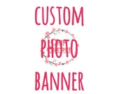 Cutom Photo Banner, photo banner, photo garland, party banner, party garland, 1st birthday