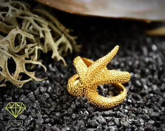 Starfish Ring Handcrafted in 18k gold