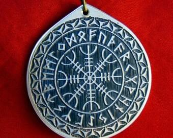 Viking The Helm of Awe Rune Circle amulet pendant
