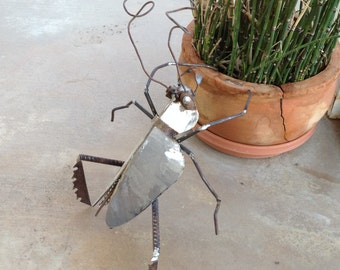 Recycled Metal Insect Sculpture