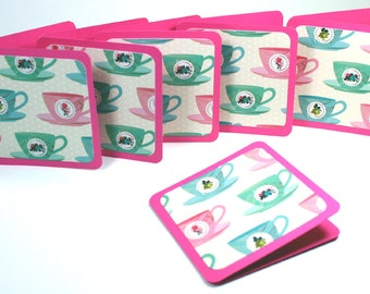 Mini Cards 3 x 3inch Ideal For Thank You Notes, Gift Tags or Small Note Cards- Set of 8 With Envelopes