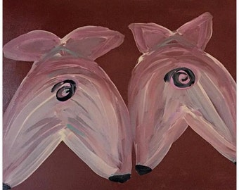 Pig Acrylic Paintings