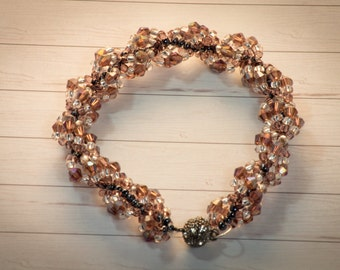 "Pearl bracelet ""autumn leaves"""