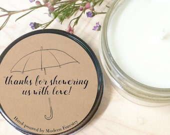 Thank You for Hosting mason jar candle, baby candle, natural soy candle, soy candle, thank you gift, baby shower gift, thanks for hosting