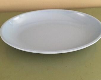 Melmac Platter Light Blue Retro Melamine Vintage Dinnerware Mid Century