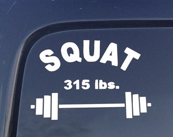 Weightlifting Powerlifting Squat Bench Deadlift PR Decal auto, laptop, water bottle, locker