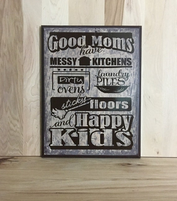Good moms custom wood sign home decor gift for mother for Personalized home decor