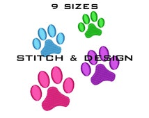 PAW PRINT Embroidery Design Paw Embroidery Design Paw Fill Design Mini Paw Embroidery Paw Design Machine Embroidery Designs 9 Sizes D No:24