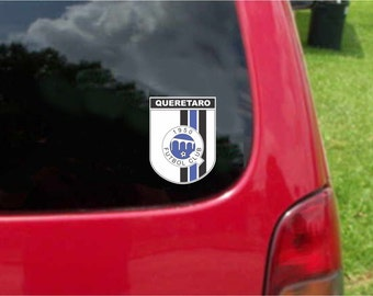 2 Pieces Queretaro Gallos  Futbol Mexico  Decals Stickers Full Color/Weather Proof. U.S.A Free Shipping