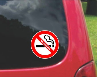 Set of No Smoking  Warning Sign Stickers Decals Full Color/Weather Proof. U.S.A Free Shipping