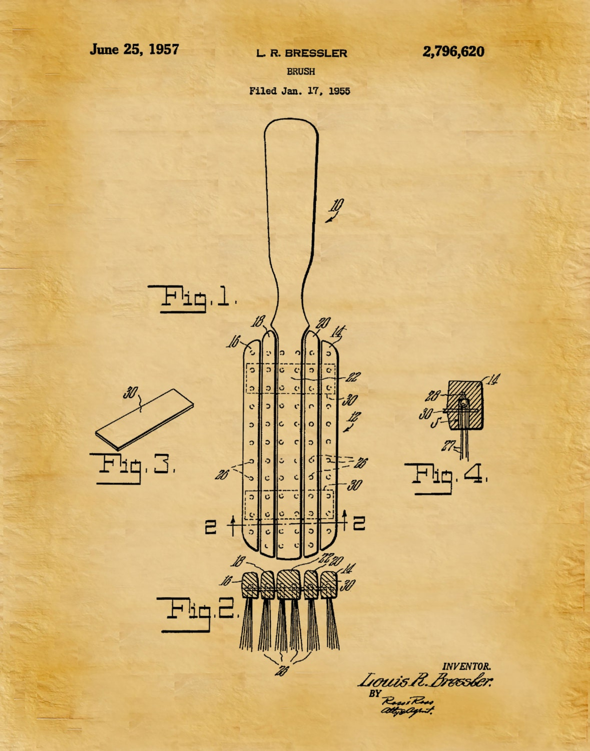 Patent 1957 hair brush art print poster barber shop art patent 1957 hair brush art print poster barber shop art hair salon wall art hairdresser art bathroom decor beauty parlor malvernweather Image collections