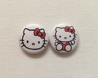 Hello kitty pin back buttons