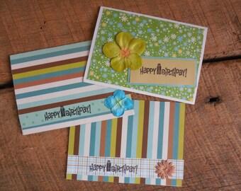 Birthday Card Pack-Set of Embellished Cards-Set of Birthday Cards- Set of Birthday Cards- Girl Birthday Cards- Birthday Card Pack