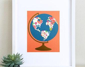 "8x10"" Papercut Globe"