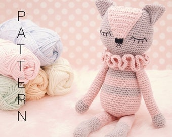 Amigurumi crochet cat doll pattern - Sienna the Kitten PATTERN ONLY (English)