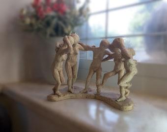 Ceramic artwork sculpture, Unique, one of a kind, Clay Sculpture. Title:Debka