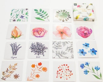 45 sticker set / flowers / DIY Filofaxing scrapbooking Aufkeber