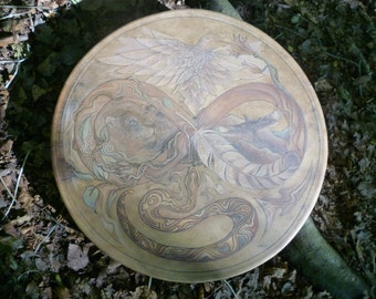 Shamanic drum with custom artwork