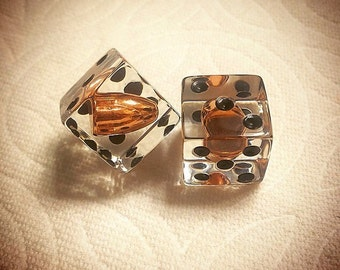 9mm Loaded Dice - Taking The Phrase To A Literal Sense! - One Of A Kind! - Display Dice