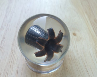Barnes .40S&W 140 Grain TAC-XPD Solid Copper Hollow Point - Resin Sphere - Stand Included - Great Conversation Piece And Gift