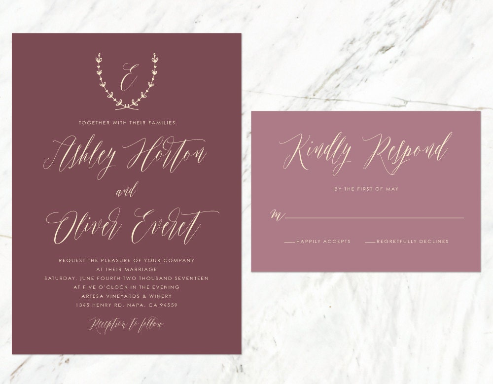 Tuscan Themed Wedding Invitations: Rustic Wedding Invitation Vineyard Wedding Tuscan