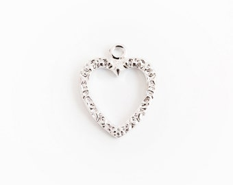 Press Line Heart Pendant,Jewelry,Pendants,charm,gift,cute supply,Simple,supplies,Unique pendant,Wish,special,Jewelry & Beading Supplies,
