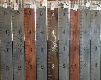 Wooden Growth Chart | Growth Ruler | Hand Painted Growth Chart