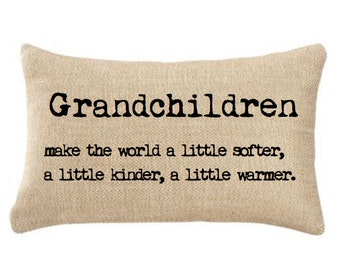 GRANDPARENTS - PILLOW, Insert Included ,Gift Idea
