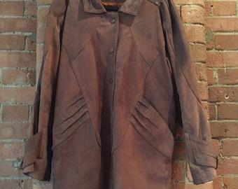 Men's Vintage Leather Coat S/M