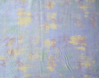 Moda, 30150 22, Grunge periwinkle background with scratches of yellow, greens, and browns