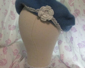 Custom Made Lace Trimmed Beret