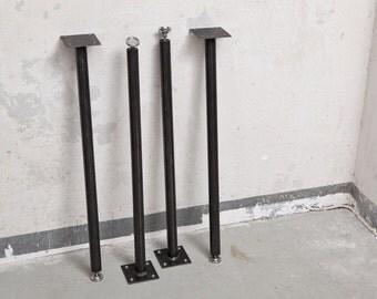Round table legs, steel Bank legs in black