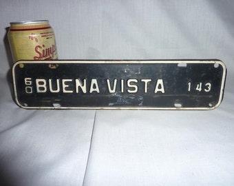 Vintage 1960 Buena Vista, Virginia Tax License Plate