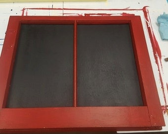 Red Frame with Chalk Board