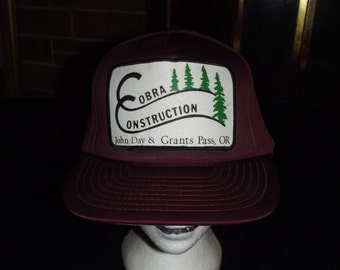 VINTAGE COBRA CONSTRUCTION Snap Back Hat One Size Fits / All John Day / Grants Pass