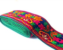 Handcrafted embroidered colorful fabric Saree Border, Bollywood Indian Trim , ribbon sequin work lace, colorful lace