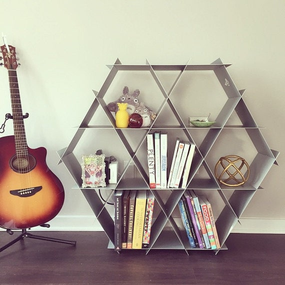 Large geometric shelf, Shoe storage, DIY furniture, Media center ...