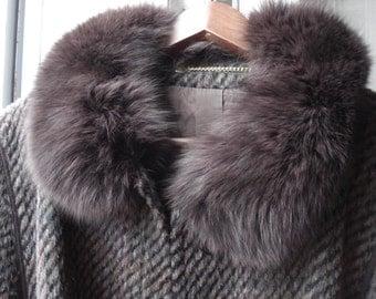 Coat with Fox Fur collar
