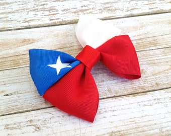 Gifts For Friends Under 25 - Hair Bow Clips For Women - Chile - Hair Bow Clips - Handmade Hair Accessories - Star Hair Bow - Flag Bows