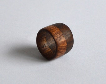 Honduran Mahogany and Black Walnut Thick Band