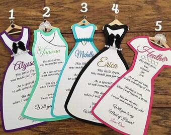 1 Bridesmaid Dress Card