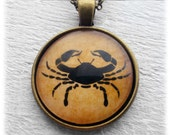 "Zodiac ""Cancer"" Pendant and Necklace"