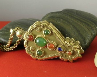 Jade Carnelian Girdle Mirror - Antiquities - Elizabethan Renaissance