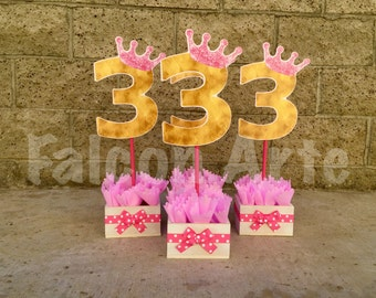 Minnie Mouse Centerpiece Pink and Gold Minnie Mouse Birthday party wood guest table centerpiece decoration Daisy Minnie Donald PER PIECE