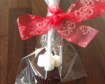 Belgium hot chocolate stirrer with marshmallows
