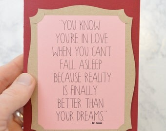 Valentine's Day Card - Dr. Seuss Quote