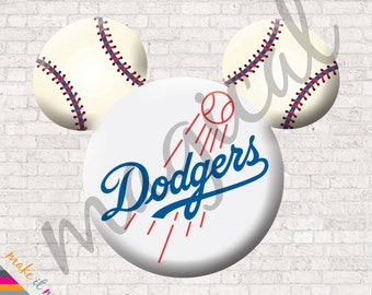 Los Angeles Dodgers Mickey Iron On / Dodgers Baseball Mickey Mouse / Los Angeles Dodgers Disney Iron On / Family Disney Shirt