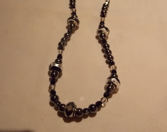 Beaded necklace ,one of a kind, hand made