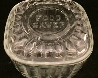 Small glass food saver