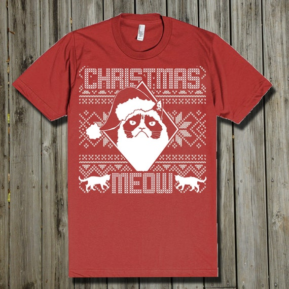 Grumpy Cat Ugly Christmas Sweater.Ugly Christmas Sweater Cat Grumpy Cat Christmas Cat Lover